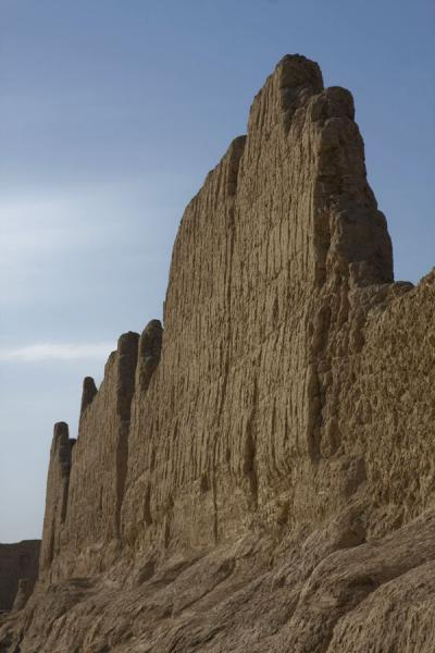 Enormous walls of the Great Monastery of the Jiaohe Ruins | Jiaohe Ruins | China