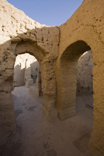 Picture of Jiaohe Ruins (China): Arched doorways in the Northwest Small Buddhist temple of Jiaohe Ruins