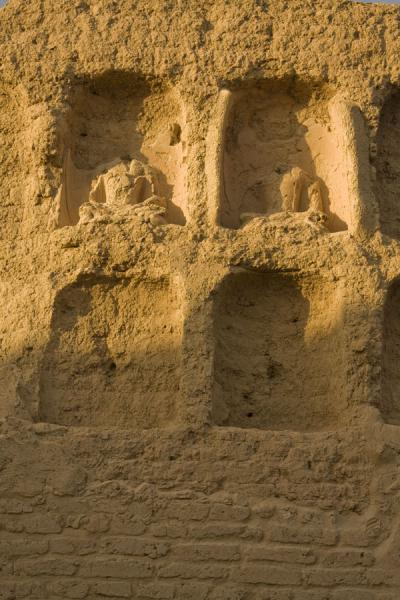 Picture of Remains of Buddhist statues in the Great Monastery of the Jiaohe Ruins