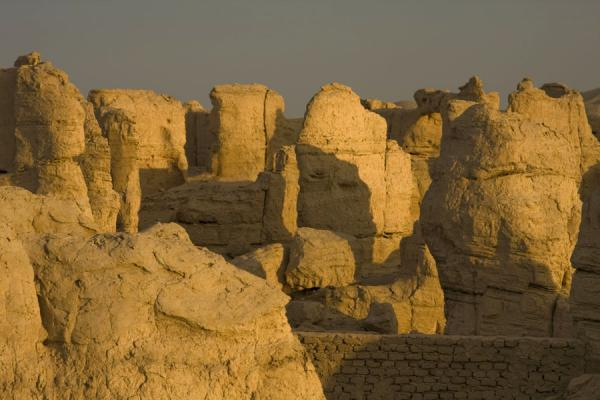 Picture of Jiaohe Ruins (China): Warm light reflecting from the Jiaohe Ruins