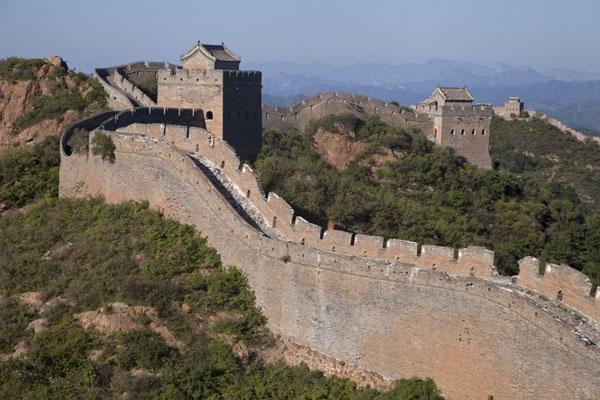 Picture of Jinshanling Great Wall (China): The central area of the Jinshanling Great Wall with the Large and Small Jinshan Tower