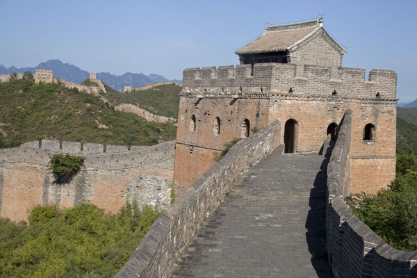 The Small Jinshan Tower can be found in the central section of the Great Wall of Jinshanling | Jinshanling Great Wall | China