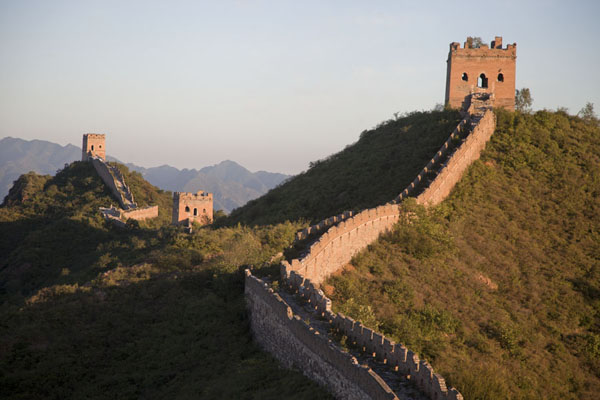 的照片 Early morning light on the Jinshanling Great Wall - 中国