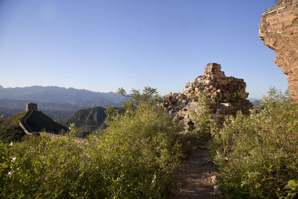 The eastern section of Jinshanling Great Wall, partly in ruins | Jinshanling Great Wall | China