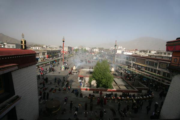 View over Barkhor square from the roof of Jokhang temple | Jokhang temple | China