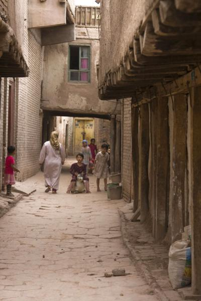 Typical alley in the old town of Kashgar | Kashgar Old Town | China