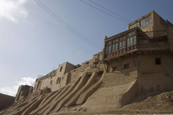 Picture of View of the wall and some houses of the old town of Kashgar