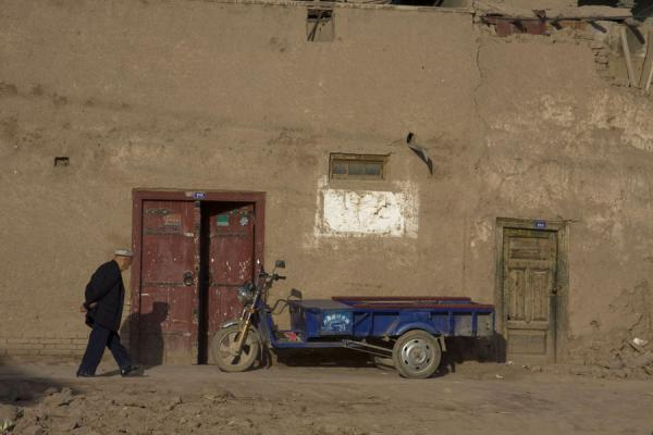 Picture of Uyghur man in the old town of Kashgar