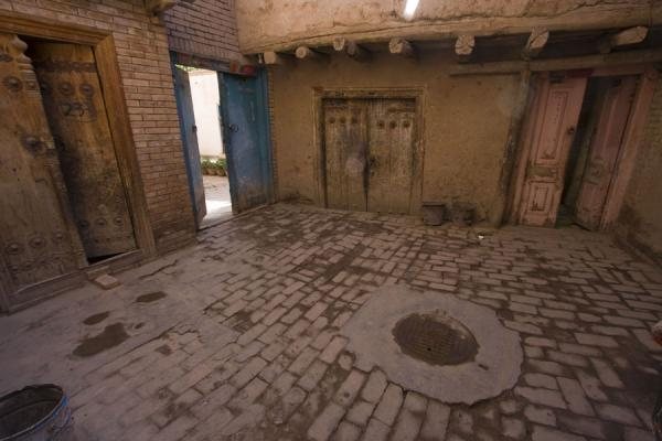Picture of Courtyard with doors in the old town of Kashgar - China - Asia