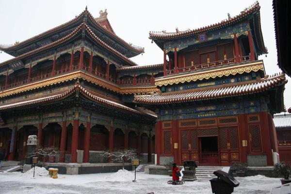 Picture of Lama Temple, Beijing: one of the halls outside
