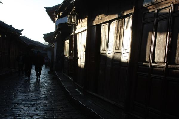 Early morning light falling on a street in the old town of Lijiang | Lijiang Old Town | China