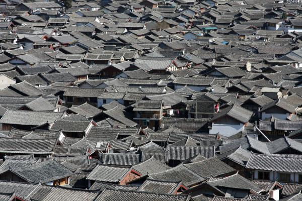 Old town of Lijiang seen from above | Lijiang Old Town | China
