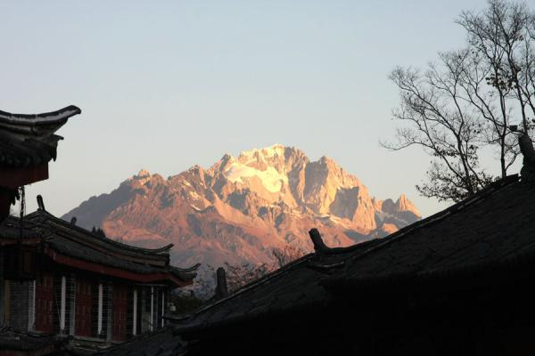 Picture of Jade Dragon Snow mountain is an integral part of the old town of Lijiang
