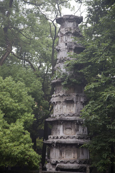 Picture of Lingyin temple complex (China): Pagoda at the temple of Lingyin
