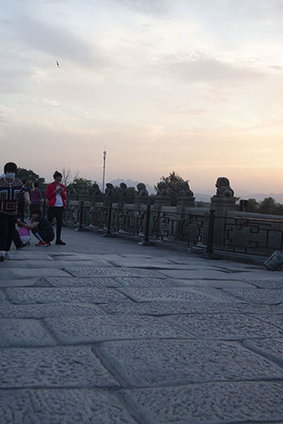 Photo de Sunset over Marco Polo Bridge - Chine - Asie