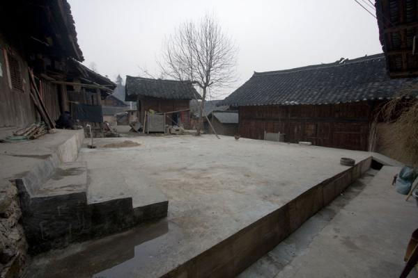 Picture of Wooden houses and courtyard in Matang