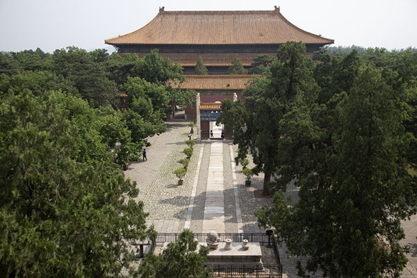 The main pathway linking the buildings of the Changling complex seen from the Soul Tower | Ming graftombes | China