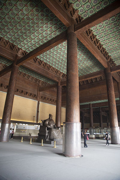 Foto van Interior of the Palace of Eternal Favour in the Changling tomb complexChangping - China