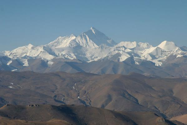 Mount Everest seen from Pang-La pass | Mount Everest North Face | China