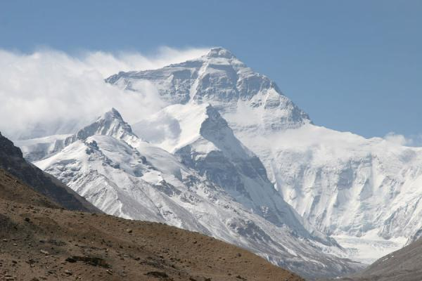 Picture of Snow blowing off the summit of Mount Everest