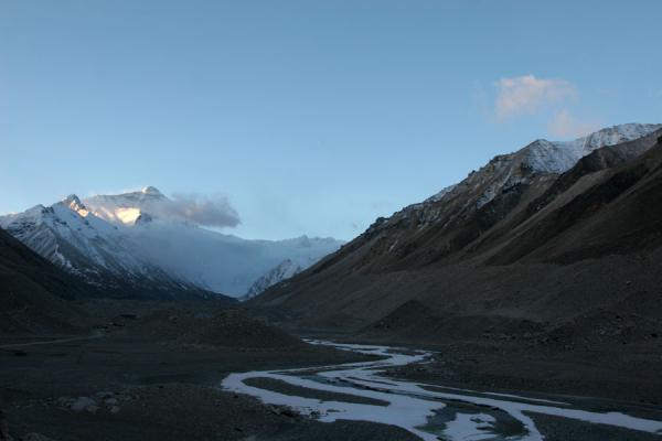 View on Mount Everest in the early morning | Mount Everest North Face | China