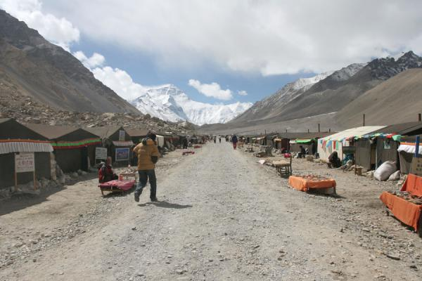 Yak-hair tent settlement a few kilometres north of Everest Base Camp | Mount Everest North Face | China