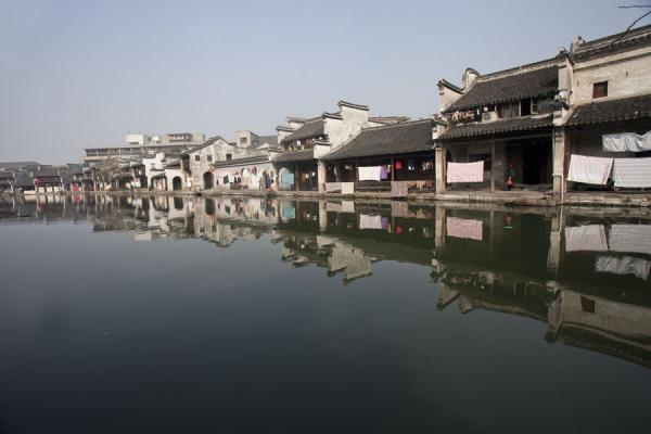 Reflection of houses on a canal in Nanxun | Nanxun Old Town | Chine