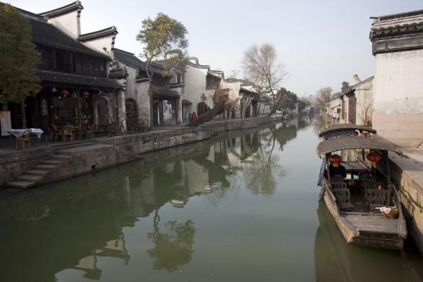 Picture of Nanxun Old Town (China): Canal with a small boat in the old town of Nanxun