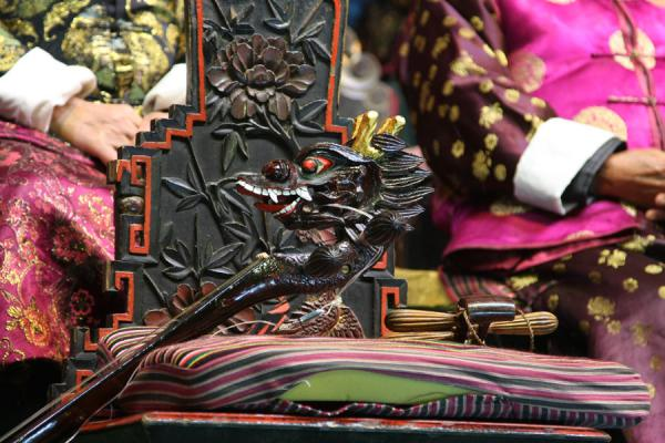 Close-up of one of the traditional instruments | Orchestre Naxi | Chine