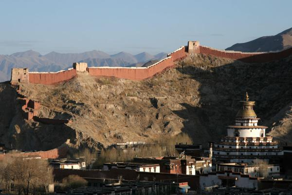 Picture of Pelkor Chöde monastery with Gyantse Kumbum