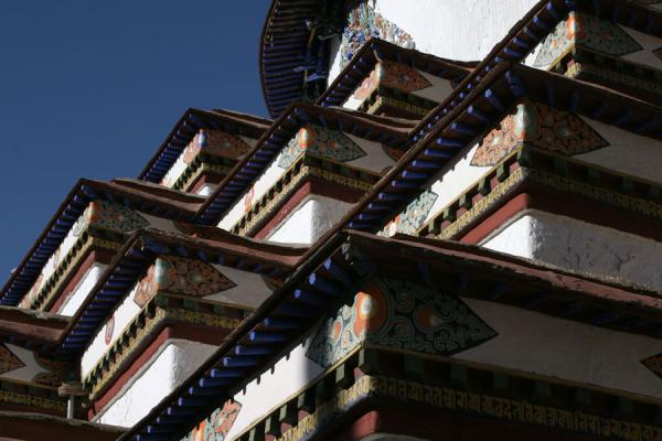Close-up of largest stupa of Tibet, Gyantse Kumbum | Pelkor Chöde monastery | China