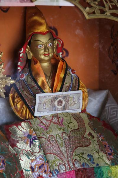 Picture of Pelkor Chöde monastery (China): Donation box in Gyantse Kumbum, Pelkor Chöde monastery
