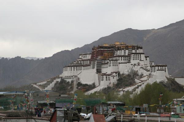 Picture of Potala palace is visible all over Lhasa