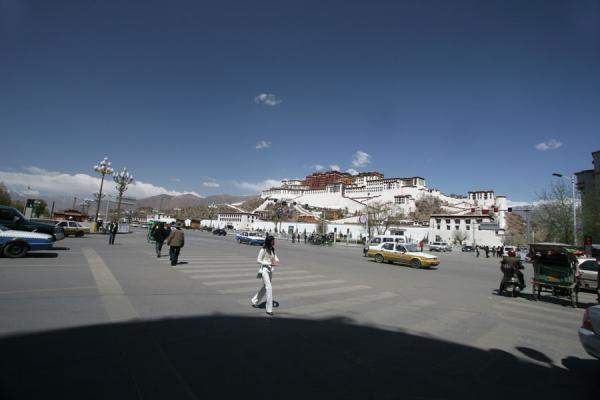 Potala palace seen from the eastern corner of the square | Potala Palace | China