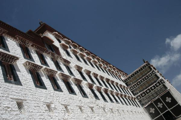 Picture of White palace of the Potala: the residential quarters of the Dalai Lama