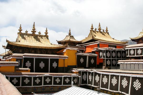 Some of the roofs of the Potala palace | Potala Palace | China