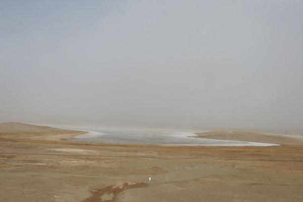Picture of Qinghai landscape (China): Frozen lake on a cold day in Qinghai province
