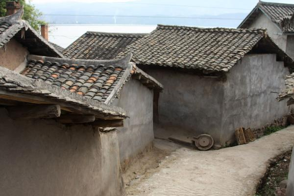 Picture of Characteristic houses on the shore of Qionghai Hu lake - China - Asia