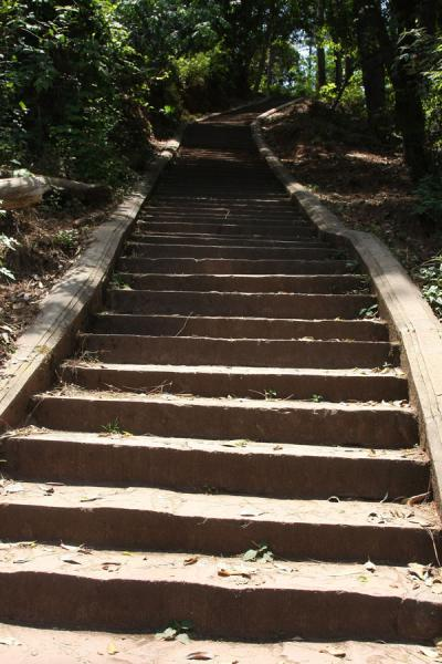 Picture of Walking up Lu Shan requires a lot of stair climbing