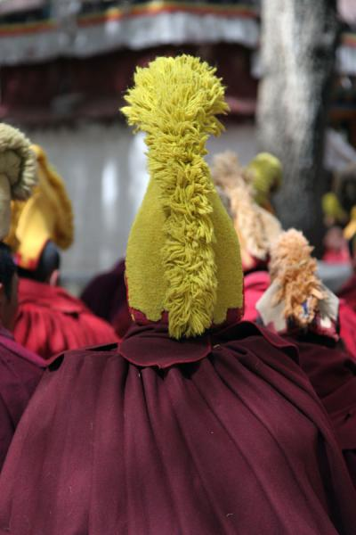 Picture of Sera monastery (China): Yellow hat wearing monk at Sera monastery