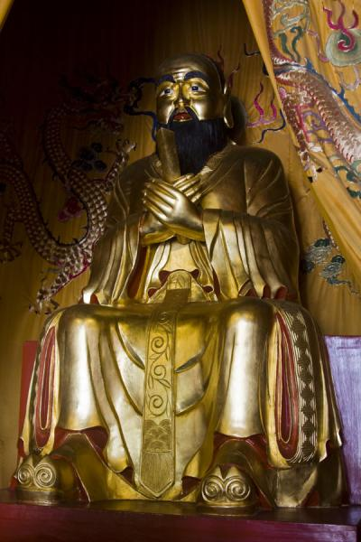 Statue of Confucius inside the Da Cheng Hall | Confucian Temple | China