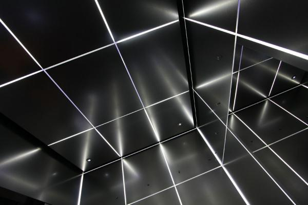 Picture of Lights and colours in one of the elevators of the building
