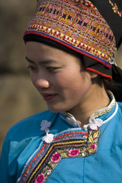 Beautiful Miao girl with traditional dress | Shi Long Zhai | China