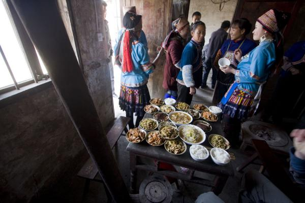 Food and beautiful Miao girls | Shi Long Zhai | China