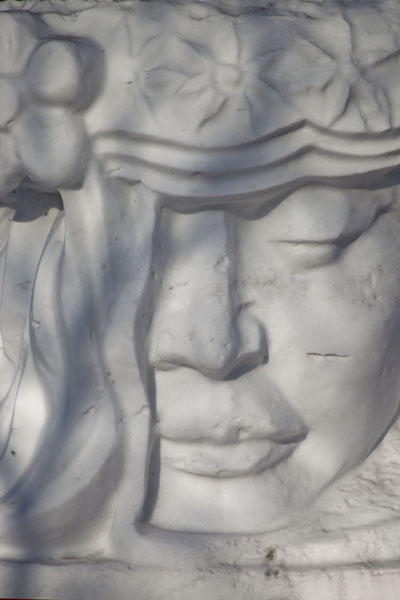 Detail of a female face | Snow Sculpture Art Expo | China