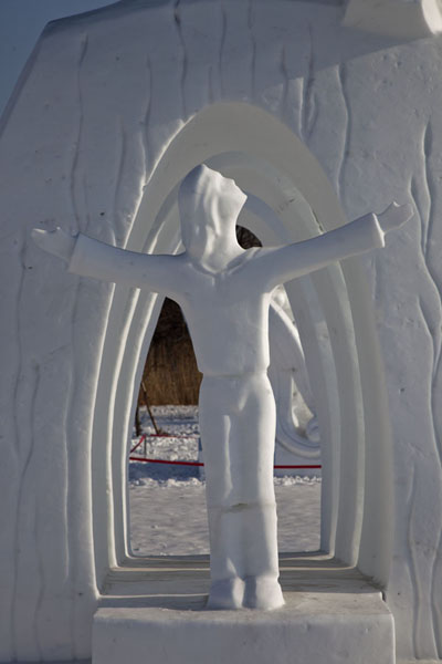 Detail of a sculpture | Snow Sculpture Art Expo | China
