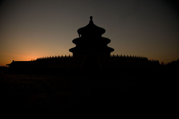 Sunset over the Hall of Prayers for Good Harvests | Temple of Heaven Park | China