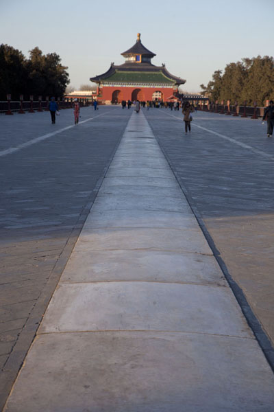 Looking north over the Vermillion Steps Bridge towards the Hall of Prayers for Good Harvests | Temple of Heaven Park | China