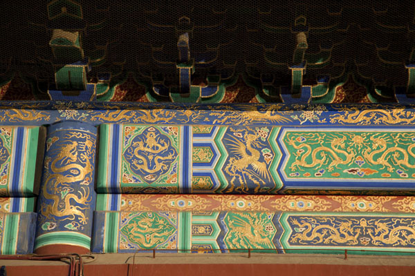 Foto de Close-up of one of the halls at the Imperial Vault of HeavenPekín - China