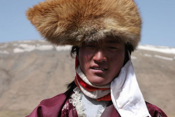 Picture of Tibetan nomads (China): Tibetan nomad near Bayanka-la pass
